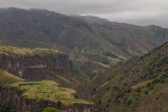 Vale verde da montanha Imagens de Stock Royalty Free