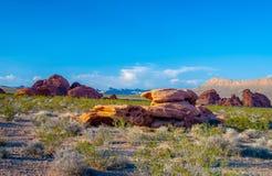 Vale vermelho da vista da rocha do fogo imagem de stock