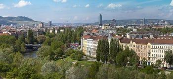 Vale Viena de Danúbio da skyline Fotos de Stock