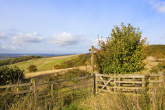 Vale of york footpath Royalty Free Stock Photography
