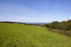 Vale of york and grass meadow Royalty Free Stock Images