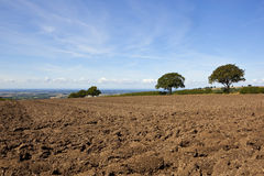 Vale of york and plow soil Royalty Free Stock Photo