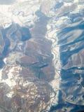 Valea Jiului - punto di vista dell'uccello Fotografie Stock