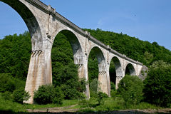 Valea Jiului viaduct. Former railway viaduct with arches at Cullen Bay, Aberdeenshire Royalty Free Stock Photography