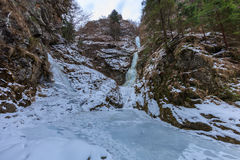 Valea lui Stan Gorge in winter, Romania Royalty Free Stock Images