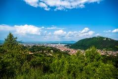 Valea prahovei. Travel to Brasov and Sinaia Stock Image