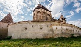 Valea Viilor农村教会在特兰西瓦尼亚,罗马尼亚 库存照片
