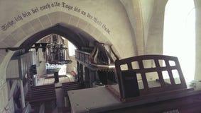 Valea Viilor被加强的教会  免版税库存照片
