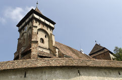 Valea Viilor fortified church Royalty Free Stock Image