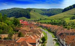 Valea Viilor i Transylvania royaltyfri foto