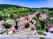 Valea Viilor warowny kościół Inskrypcja: 709 rok zdjęcie royalty free