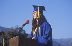 Valedictorian da High School Imagem de Stock Royalty Free