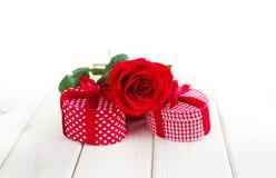 Valeintines dnia prezent Zdjęcia Royalty Free