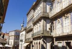 Valença do Minho. Portugal. Shopping street in the fortress city Valença do Minho. Portugal Royalty Free Stock Photo