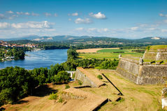 Valença fortress, Portugal. View from the Valença fortress, Portugal Royalty Free Stock Images