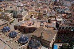 Valença, Spain: Vista sobre telhados da cidade Imagem de Stock Royalty Free