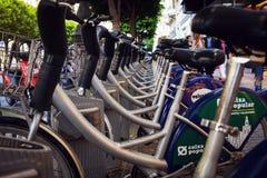Valenbisi bike sharing station in Valencia Royalty Free Stock Photo