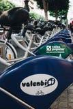 Valenbisi roweru udzielenia stacja w Walencja Zdjęcie Royalty Free