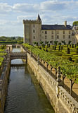 Valencay castle, canal and garden Stock Photos