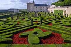 Valencay castle and garden Royalty Free Stock Image