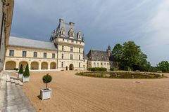 View to Valencay castle in Loire Valley, France stock images