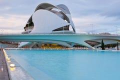 VALENCE, ESPAGNE - 23 DÉCEMBRE 2010 : Vue d'architectu de Valence Photos stock