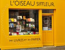 Valence, France - april 13 2016 : the picturesque city. Valence, France - april 13 2016 : a book shop Stock Photos