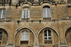 Valence, France - april 13 2016 : the picturesque city. Valence, France - april 13 2016 : the Moorish house in the old city Stock Photography