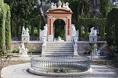 Valence, jardins de Monforte Image stock