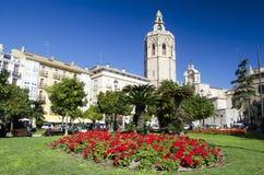 Valence, Plaza de la Reina Images stock