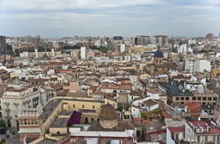 Valencia from above. Royalty Free Stock Photo