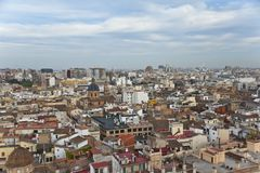 Valencia from above. Royalty Free Stock Images