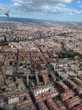 Valencia from above. View from above from plane to Valencia city Stock Photography