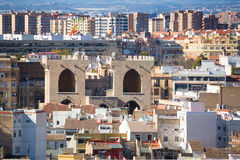 Valencia aerial skyline from el Miguelete royalty free stock photo