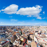 Valencia aerial skyline from el Miguelete tower Stock Image