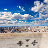 Valencia aerial skyline from el Miguelete tower Royalty Free Stock Photo