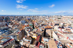 Valencia aerial skyline from el Miguelete tower Stock Photo
