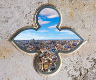 Valencia aerial skyline from el Miguelete tower Stock Photography