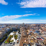 Valencia aerial skyline with Plaza de la Reina Royalty Free Stock Images