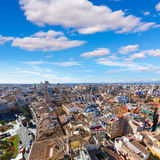Valencia aerial skyline with Plaza de la Reina Royalty Free Stock Image