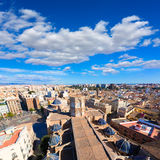 Valencia aerial skyline with Plaza de la virgen Royalty Free Stock Image