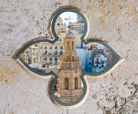 Valencia aerial skyline Santa Catalina belfry Royalty Free Stock Photo