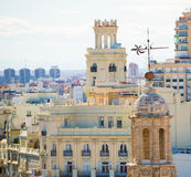 Valencia aerial skyline with Santa Catalina Royalty Free Stock Photo