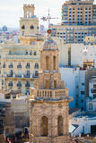 Valencia aerial skyline with Santa Catalina Stock Photography