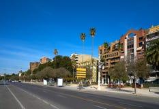 Valencia Alameda Albereda promenade Spain. Valencia Alameda Albereda promenade park in Spain Stock Image