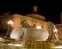 Valencia alla notte Fotografia Stock Libera da Diritti