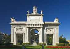Valencia, arco di marzo della La di Porta de Fotografie Stock