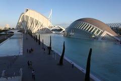 Valencia arkitektonisk komplex stad av konster och vetenskaper arkivbilder