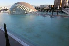 Valencia arkitektonisk komplex stad av konster och vetenskaper arkivfoto