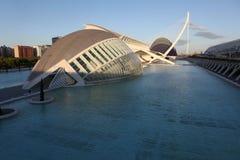 Valencia arkitektonisk komplex stad av konster och vetenskaper arkivbild